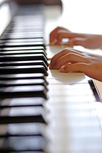 ピアノを弾く子どもの手の写真素材 [FYI03850976]