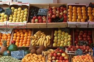 陳列された果物の写真素材 [FYI03851653]