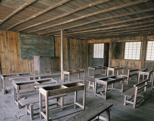 旧渋民小学校の教室  岩手県の写真素材 [FYI03851966]
