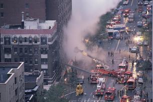 スチームパイプの爆発現場 NY アメリカの写真素材 [FYI03852113]