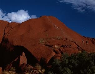 エアーズ・ロック登山口   オーストラリアの写真素材 [FYI03853996]