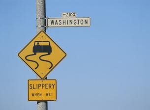 サンフランシスコの道路標識 アメリカの写真素材 [FYI03854098]