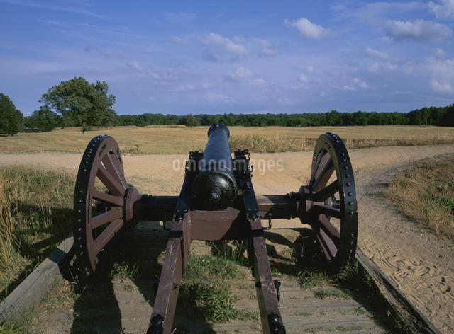 バトルフィールド 大砲   ウ゛ァージニア州 アメリカの写真素材 [FYI03854373]