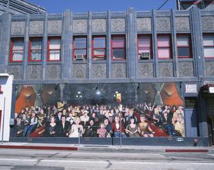 壁画を飾るハリウッドスター ロサンゼルス アメリカの写真素材 [FYI03854620]