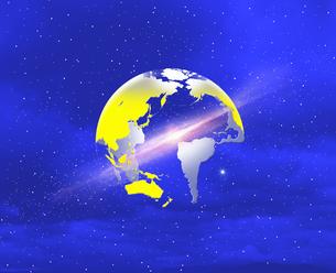 地球と星雲の写真素材 [FYI03855082]