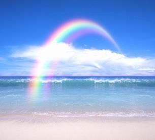 海と虹の写真素材 [FYI03855098]