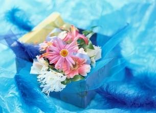 プレゼントと花束 マーガレットの写真素材 [FYI03855229]