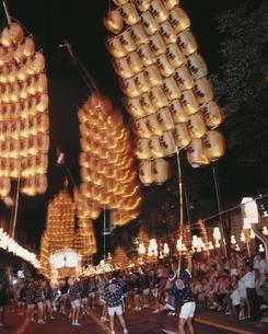 竿灯祭り 8月 秋田県の写真素材 [FYI03855611]