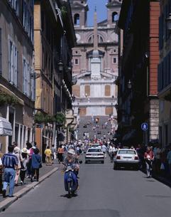 コンデット通り ローマ イタリアの写真素材 [FYI03856575]