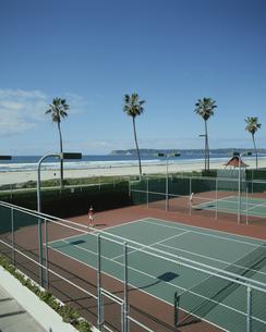テニスコートの写真素材 [FYI03856652]