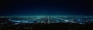 ロサンゼルスの夜景   アメリカの写真素材 [FYI03856729]