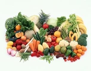 果実・野菜類の集合の写真素材 [FYI03858255]