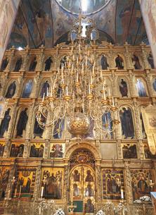 ウスペンスキー聖堂のロシア正教信者画 ロシアの写真素材 [FYI03858803]