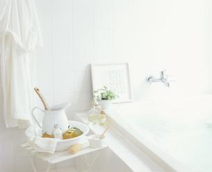 バス用品のある浴室の写真素材 [FYI03858856]