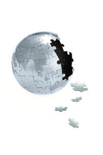 パズルの地球儀の写真素材 [FYI03859408]