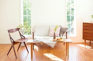 北欧家具のリビングの写真素材 [FYI03859696]