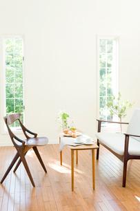 北欧家具のリビングの写真素材 [FYI03859699]
