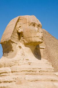 スフィンクスとカフラー王のピラミッドの写真素材 [FYI03859814]