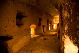 ポンペイの柱の地下図書館跡の写真素材 [FYI03859832]