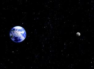 地球と月  宇宙イメージCGのイラスト素材 [FYI03859852]