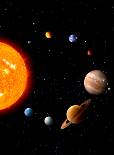 太陽系 CGのイラスト素材 [FYI03859854]