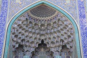 イマームモスクの装飾タイルの写真素材 [FYI03859921]