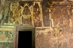 アジャンタ石窟第2窟の壁画の写真素材 [FYI03860149]