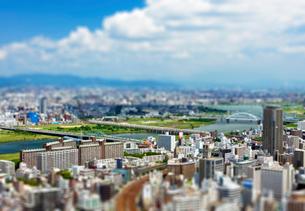 大阪市街と淀川の写真素材 [FYI03860862]