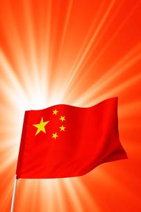 中国国旗イメージの写真素材 [FYI03860891]