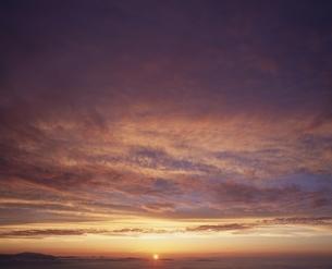乗鞍岳の夕焼け 長野県の写真素材 [FYI03862203]