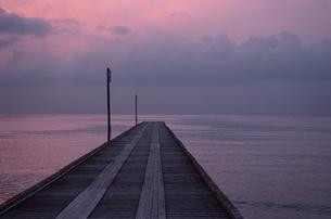 桟橋と水平線 館山 千葉の写真素材 [FYI03862823]