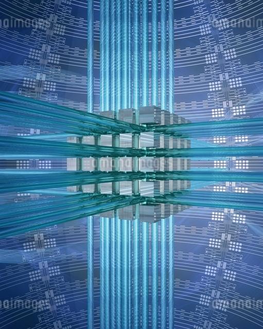 エレクトロニクスパターンとネットワークイメージのイラスト素材 [FYI03862838]