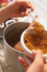 カレー粉を入れるの写真素材 [FYI03862849]