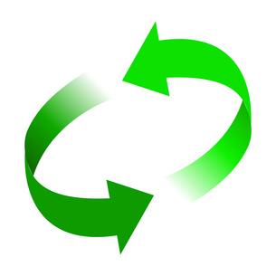 リサイクル緑色イラストアイコン素材のイラスト素材 [FYI03867183]