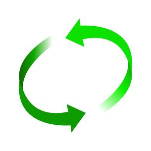 リサイクル緑色イラストアイコン素材のイラスト素材 [FYI03867184]