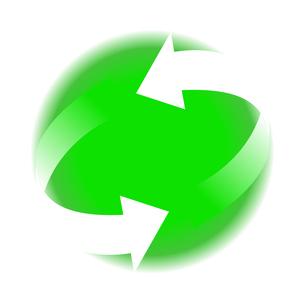 リサイクル緑色イラストアイコン素材のイラスト素材 [FYI03867189]