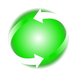 リサイクル緑色イラストアイコン素材のイラスト素材 [FYI03867192]