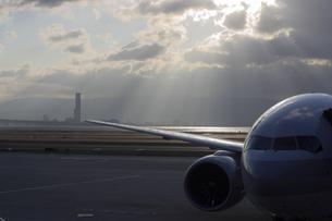 旅客機の写真素材 [FYI03867649]