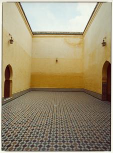 グランモスクの床 メクネス モロッコの写真素材 [FYI03867709]