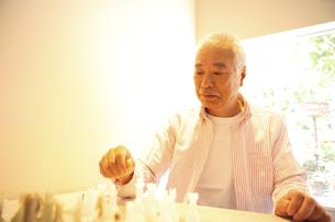 チェスをするシニア男性の写真素材 [FYI03869142]