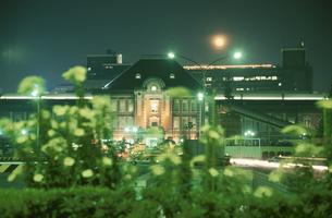 東京駅のライトアップの写真素材 [FYI03869387]