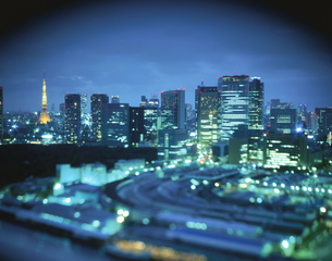 都内の夜景の写真素材 [FYI03869604]