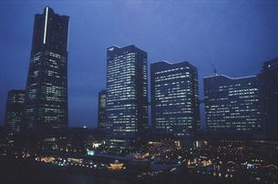 横浜コスモワールド観覧車からの風景の写真素材 [FYI03869979]