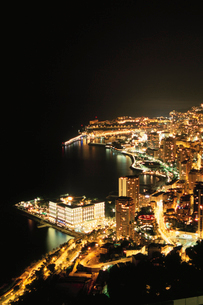 モナコの海岸線の写真素材 [FYI03870279]