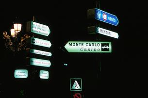 道路標識と案内図の写真素材 [FYI03870293]