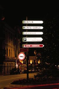 道路標識と案内図の写真素材 [FYI03870294]