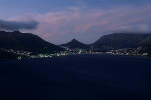 ハウト湾の夕景の写真素材 [FYI03870567]