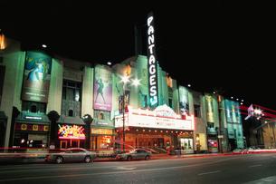 ハリウッド周辺の夜景の写真素材 [FYI03870788]