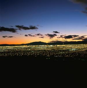 サンライズマウンテンから見たラスベガスの夜景の写真素材 [FYI03870812]
