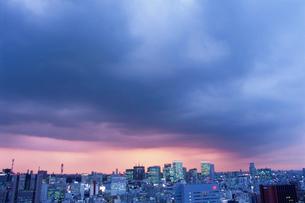 勝どきから望む丸の内方面の夜景の写真素材 [FYI03870903]